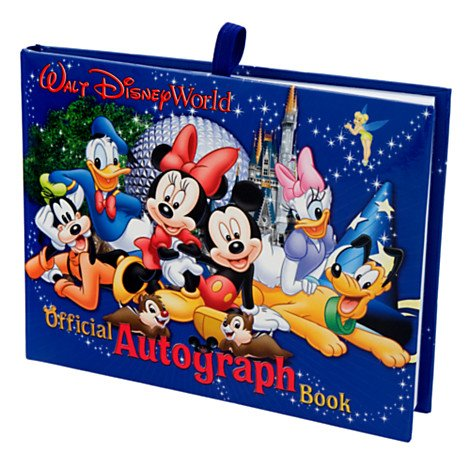 Walt Disney World Autograph Book With Mickey Mouse and Friends