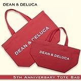 【DEAN & DELUCA】【赤】ディーン & デルーカトートバッグ hwc-0139-1 Lサイズ [ns]