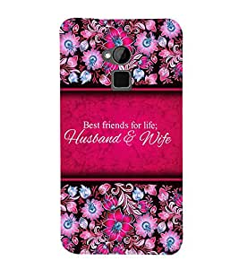 Best Friends Of Life 3D Hard Polycarbonate Designer Back Case Cover for HTC One Max