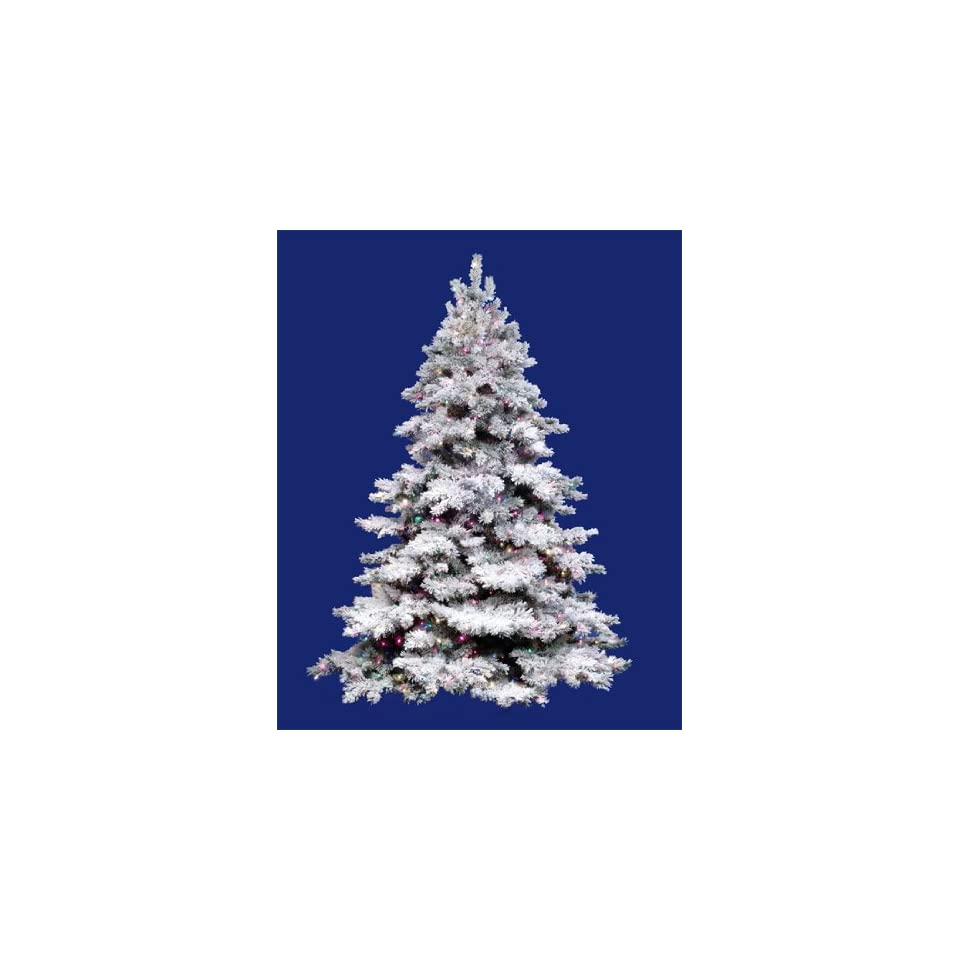 12 Pre Lit Flocked Alaskan Artificial Christmas Tree   Multi Dura Lights
