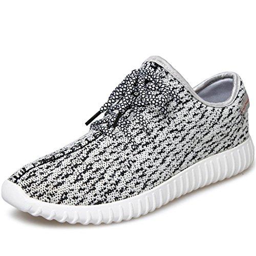 SITAILE Scarpe da Ginnastica Basse Uomo Donna Sneaker,WH,44