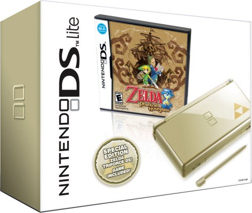 Nintendo DS Lite Gold with The Legend of Zelda Game
