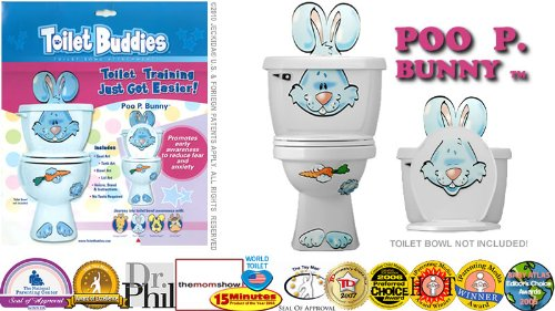 Toilet Buddies Poo P. Bunny Toilet Bowl Attachment