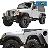 E-Autogrilles EAG 97-06 Jeep Wrangler TJ Fender Flares With Mounting Hardware Pocket Style