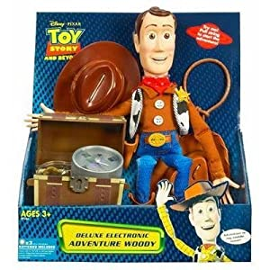 Adventure Woody Disney Pixar Toy Story and Beyond Deluxe Electronic Pull String Doll