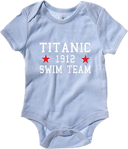 Cotton Island - Body neonato TR0138 Titanic Swim Team T-Shirt, Taglia 3-6mesi
