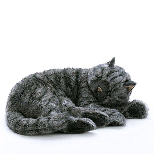 Katze liegend grau getigert - von STEINER - Kuscheltier