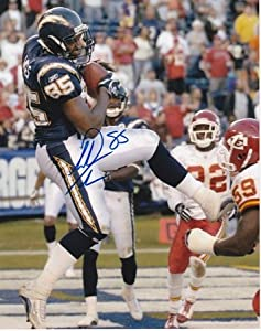 Antonio Gates Autographed Hand Signed San Diego Chargers 8x10 Photo by Real Deal Memorabilia