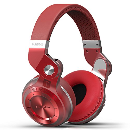 Bluedio T2S (Turbine 2 Shooting Brake) Bluetooth stereo headphones wireless headphones Bluetooth 4.1 headset Hurrican Series over the Ear headphones Gift Package (Red)