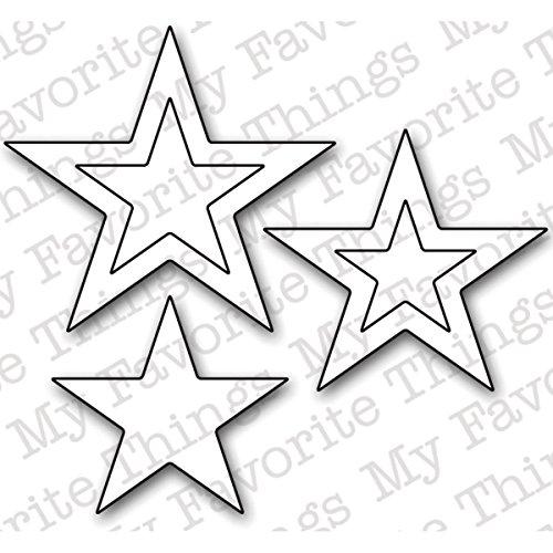 My Favorite Things Die-Namics Die-Stacking Stars, 0.75-Inch To 1.75-Inch