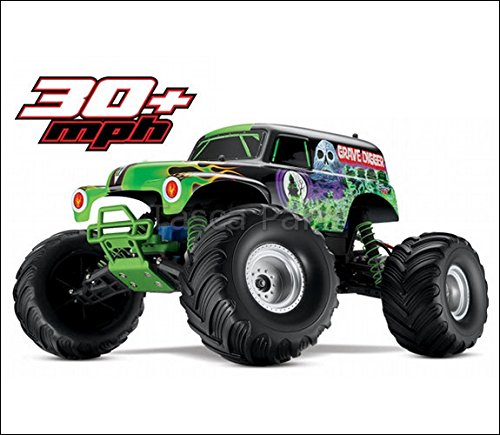 Traxxas 3604A 2Wd Grave Digger Monster Jam Replica Monster Truck, 1:10 Scale