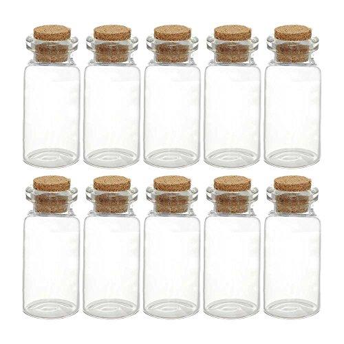 ガラスの小瓶小(コルク瓶)10本セット