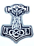 Mjolnir Viking Thor Hammer Loki Odin Skins Iron On Embroidered Patch 3.1