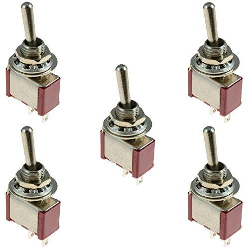 5-x-interruttore-on-off-mini-mini-radio-shack-spst-interruttore-a-levetta