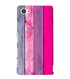 PrintVisa Pink Wood Pattern 3D Hard Polycarbonate Designer Back Case Cover for Sony Z5 Mini :: Z5 Compact