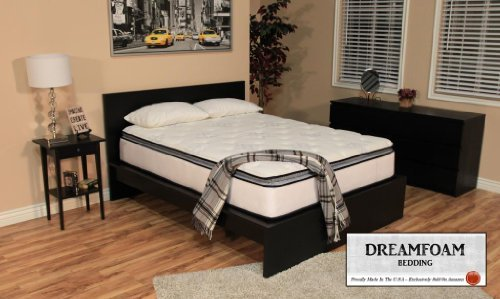 DreamFoam Bedding Ultimate Dreams Pocketed Coil Ultra Plush Pillow Top Mattress with...