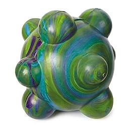 Grriggles Swirleez Ball Dog Toys, Green, 3.5\