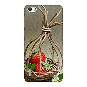 Premium Straberry Basket Multicolor Back Case Cover for Honor 6