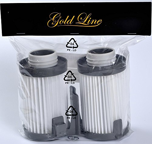 2 Eureka Type DCF-10/DCF-14 Washable & Reusable Vacuum Filters (2 Pack); replaces part # 62396, 62731 for Eureka Optima 430 series Vacuum Cleaners. Genuine Gold Line filter (Eureka 431bx Filter compare prices)