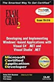 img - for MCAD Developing and Implementing Windows-based Applications with Microsoft Visual C#(TM) .NET and Microsoft Visual Studio(R) .NET Exam Cram 2 (Exam Cram 70-316) by Kirk Hausman, Amit Kalani, Priti Kalani (2003) Paperback book / textbook / text book