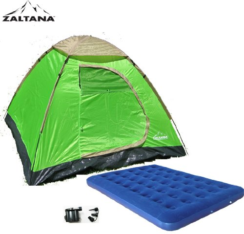 Zaltana 3 PERSON TENT WITH AIR MATTRESS (DOUBLE) & DC pump