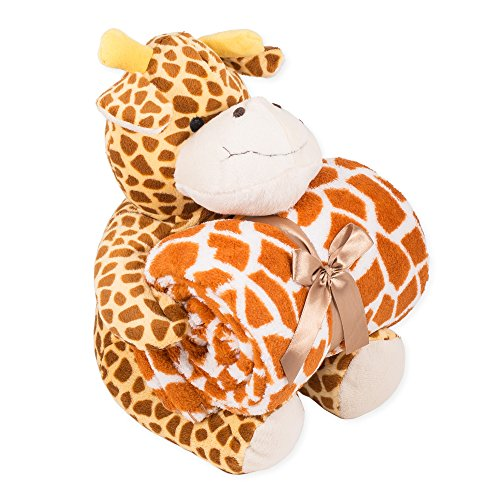 Snoozies Plush Animal with Matching Throw Blanket - 1