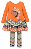Bonnie Baby Baby-Girls Gingerbread Turkey Applique with Multi Tiered Skirt