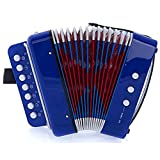 MAGIKON Children Button Accordion Toy , Also Nice As Performance Props (Blue, Normal)