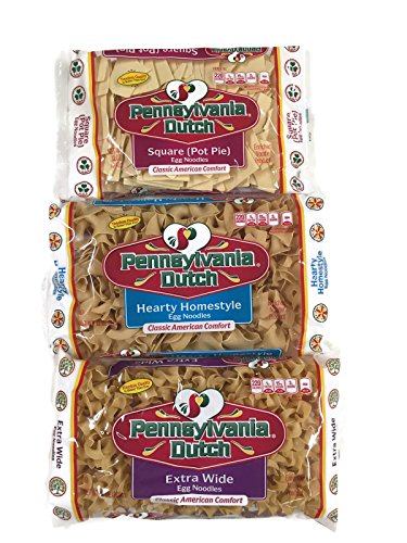 Pa. Dutch Egg Noodles: Pot Pie, Hearty Homestyle, Extra Wide, 12 Oz. Bags [1 of Each] (Pot Pie Noodles compare prices)