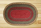 Capitol Earth Rugs 13-111 Burgundy-Green-Sunflower Jute Braided Rug