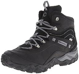 Merrell Women\'s Chameleon Shift Traveler Mid Waterproof Hiking Boot, Black, 8 M US