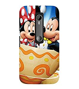 Evaluze mickey mouse Printed Back Case Cover for MOTOROLA MOTOG3
