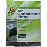 Duck Brand 1285234 Replacement Air Conditioner Foam Filter, 24-Inch x 15-Inch x 1/4-Inch, 1-Pack
