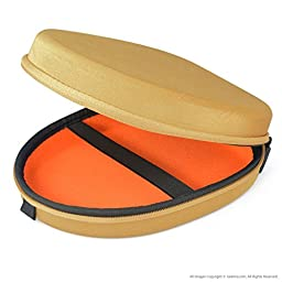 Geekria® UltraShell Headphones Case for Bose QuietComfort QC3, QC25, QC2, QC15, AE2w, AE2i, AE2 / Headphone Hard Carrying Case / Travel Bag (Yellow)