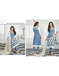 Typify Chanderi Semistitch Dress Material - B019BGG9J4