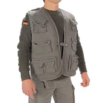 Mil tec moleskin fishing vest olive clothing for Fishing vest amazon