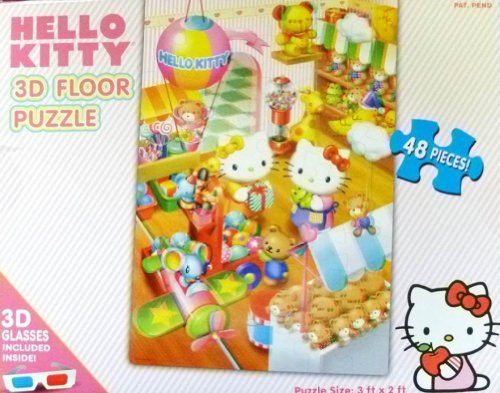 Hello Kitty 48-piece 3D Floor Puzzle with 3D Glasses - 1