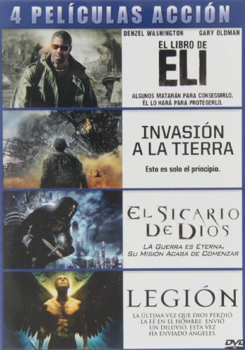 Pack: El Sicario De Dios + Legión + El Libro De Eli + Invasión A La Tierra [DVD]