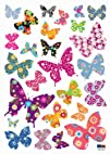 2021528 Patterned Butterfly Repositional Wall Decal