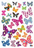 (20x28) Patterned Butterfly Repositional Wall Decal