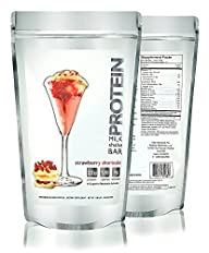 Strawberry Shortcake Protein Powder | Soy & Gluten Free | 100% Premium Whey Protein – 1.06LB