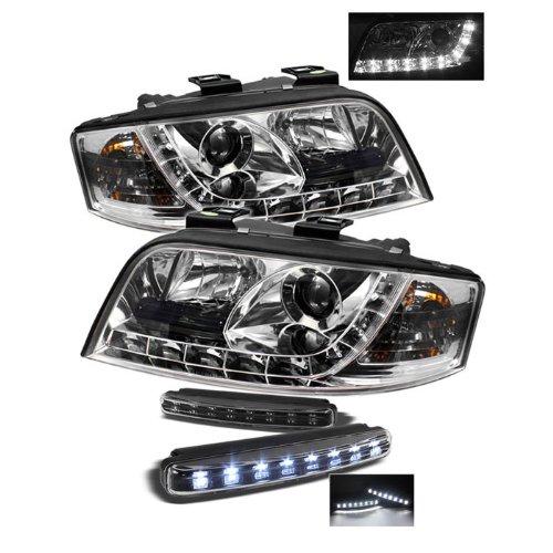 Audi A6 Drl Led Chrome Projector Headlights