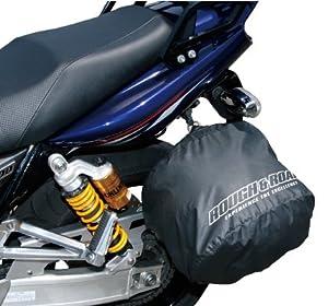 ラフ&ロード ポケッタブル ヘルメットカバー 簡易防水 駐車時に雨、粉塵、傷からヘルメットを守ります ブラック RR9908