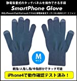 スマートフォングローブ for iPhone & 静電容量式液晶タッチパネル採用スマートフォン 色アッシュグレイ