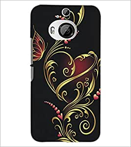 PrintDhaba Floral Design D-5314 Back Case Cover for HTC ONE M9 PLUS (Multi-Coloured)