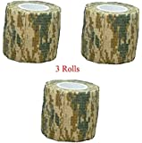Protective Camouflage Camo Fabric Wrap (3 Rolls)