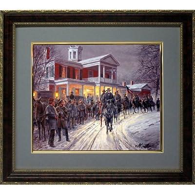 Mort kunstler art framed print general lee christmas ebay for Christmas wall art amazon