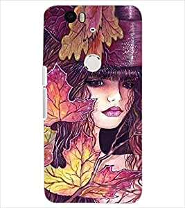PrintDhaba CUTE GIRL D-6229 Back Case Cover for HUAWEI NEXUS 6P (Multi-Coloured)