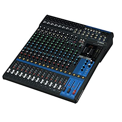 Yamaha Package Bundle: Yamaha MG16XU 16-Input 6-Bus Mixer with Effects + 4 Microphone Stand + 4 EMB Emic700 Dynamic Undirectional Microphones w/ Cables + 4 XLR XLarge Cables by EMB
