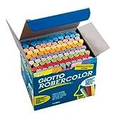 Giotto 5390 00 - RoberColor Wandtafelkreide, Karton mit 100 StÃ1/4ck farbig sortiert hergestellt von Giotto
